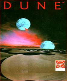 Box cover for Dune on the Commodore Amiga.