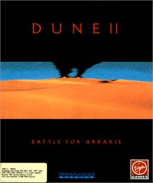 Box cover for Dune 2 on the Commodore Amiga.