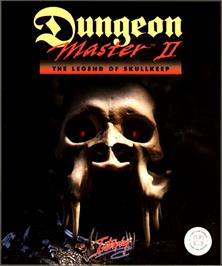 Box cover for Dungeon Master II: The Legend of Skullkeep on the Commodore Amiga.
