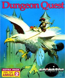 Box cover for Dungeon Quest on the Commodore Amiga.