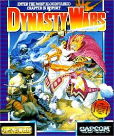 Box cover for Dynasty Wars on the Commodore Amiga.