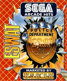 Box cover for E-SWAT: Cyber Police on the Commodore Amiga.