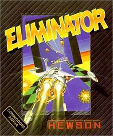 Box cover for Eliminator on the Commodore Amiga.