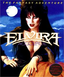Box cover for Elvira: Mistress of the Dark on the Commodore Amiga.