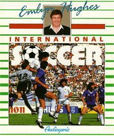 Box cover for Emlyn Hughes International Soccer on the Commodore Amiga.