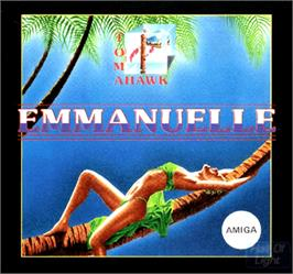 Box cover for Emmanuelle: A Game of Eroticism on the Commodore Amiga.