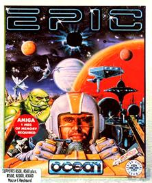 Box cover for Epic on the Commodore Amiga.