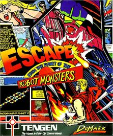 Box cover for Escape from the Planet of the Robot Monsters on the Commodore Amiga.