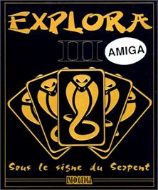 Box cover for Explora III: Sous Le Signe Du Serpent on the Commodore Amiga.
