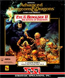 Box cover for Eye of the Beholder II: The Legend of Darkmoon on the Commodore Amiga.