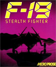 Box cover for F-19 Stealth Fighter on the Commodore Amiga.