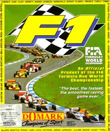 Box cover for F1 on the Commodore Amiga.