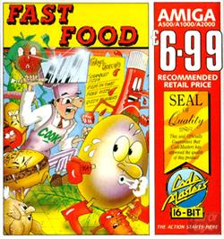 Box cover for Fast Food on the Commodore Amiga.