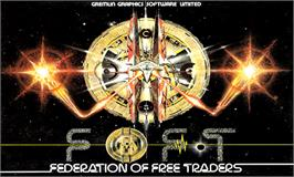 Box cover for Federation of Free Traders on the Commodore Amiga.