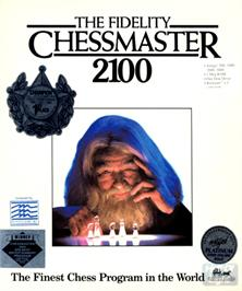 Box cover for Fidelity Chessmaster 2100 on the Commodore Amiga.