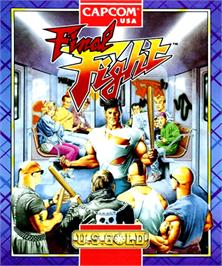 Box cover for Final Fight on the Commodore Amiga.