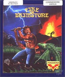 Box cover for Fire and Brimstone on the Commodore Amiga.