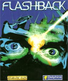 Box cover for Flashback on the Commodore Amiga.