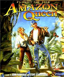 Box cover for Flight of the Amazon Queen on the Commodore Amiga.