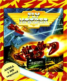 Box cover for Fly Harder on the Commodore Amiga.
