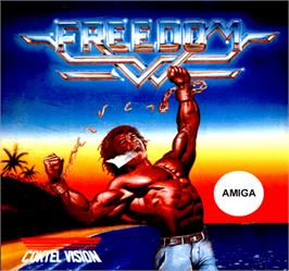 Box cover for Freedom: Rebels in the Darkness on the Commodore Amiga.