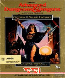 Box cover for Gateway to the Savage Frontier on the Commodore Amiga.