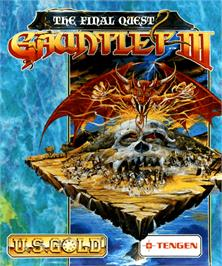 Box cover for Gauntlet III on the Commodore Amiga.