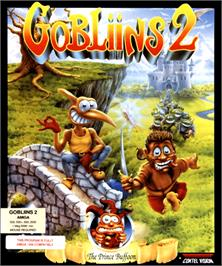 Box cover for Gobliins 2: The Prince Buffoon on the Commodore Amiga.