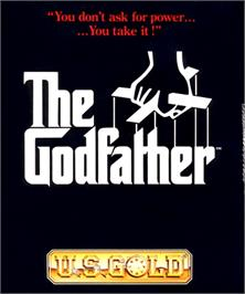 Box cover for Godfather: The Action Game on the Commodore Amiga.