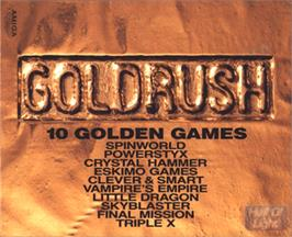 Box cover for Gold Rush on the Commodore Amiga.