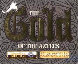 Box cover for Gold of the Aztecs on the Commodore Amiga.