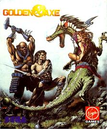 Box cover for Golden Axe on the Commodore Amiga.