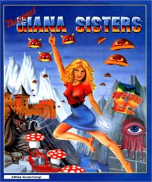 Box cover for Great Giana Sisters on the Commodore Amiga.