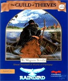 Box cover for Guild of Thieves on the Commodore Amiga.