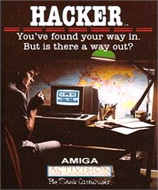 Box cover for Hacker on the Commodore Amiga.