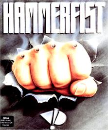 Box cover for Hammerfist on the Commodore Amiga.