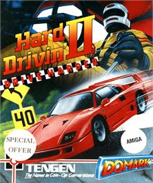 Box cover for Hard Drivin' 2 on the Commodore Amiga.