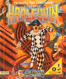 Box cover for Harlequin on the Commodore Amiga.
