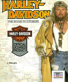 Box cover for Harley-Davidson: The Road to Sturgis on the Commodore Amiga.