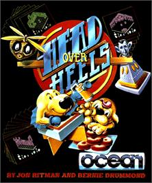 Box cover for Head Over Heels on the Commodore Amiga.