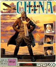 Box cover for Heart of China on the Commodore Amiga.