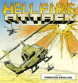 Box cover for Hellfire Attack on the Commodore Amiga.