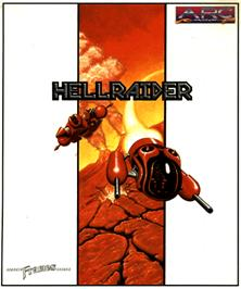 Box cover for Hellraider on the Commodore Amiga.