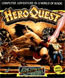 Box cover for Hero Quest on the Commodore Amiga.