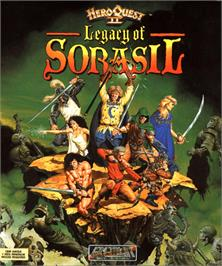 Box cover for Hero Quest 2: Legacy of Sorasil on the Commodore Amiga.