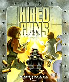 Box cover for Hired Guns on the Commodore Amiga.