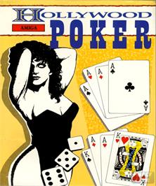 Box cover for Hollywood Poker on the Commodore Amiga.