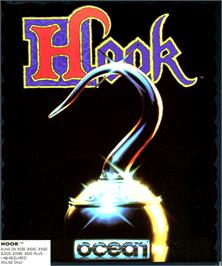 Box cover for Hook on the Commodore Amiga.