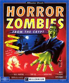 Box cover for Horror Zombies from the Crypt on the Commodore Amiga.