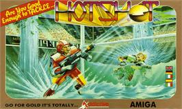 Box cover for Hot Shot on the Commodore Amiga.